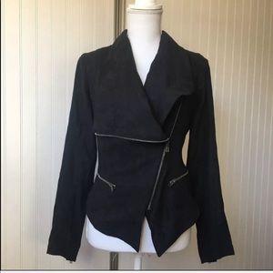 Women's Rampage Faux Suede Zipper Mod Jacket